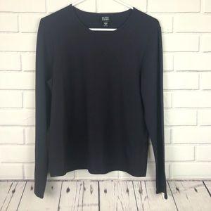 Eileen Fisher medium long sleeve top black